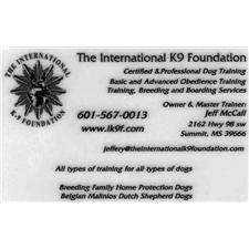 View full profile for The International K9 Foundation